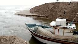 Pescadores não conseguem chegar ao mar após Boca da Barra ser fechada
