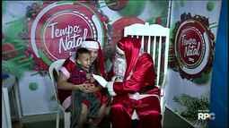 O Papai Noel esteve hoje na região do Três Bandeiras, aqui em Foz