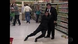 Jorginho e Pedrão no supermercado