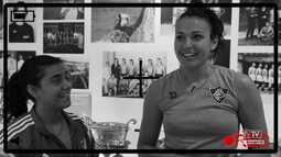 Flu TV - A jogadora de vôlei grega, Eva Chantava, aprende um pouco de português com Kika