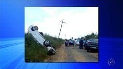 Quatro veículos se envolvem em acidente após carro capotar em Pilar do Sul