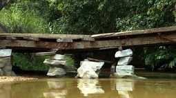 Moradores de São Cristóvão denunciam situação de uma ponte