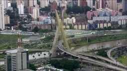 Terminou oficialmente a limpeza das pichações da ponte Octávio Frias de Oliveira