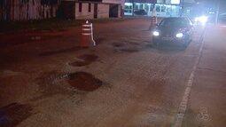 Moradores de Santana, no AP, reclamam das más condições das vias de entrada do município