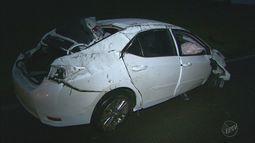 Três carros batem na Rodovia Cândido Portinari em Batatais, SP