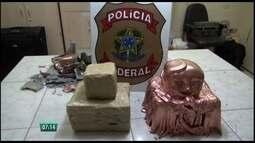Mulher é presa com 16 kg de cocaína no Aeroporto do Recife