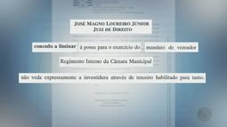 Mesmo preso, vereador toma posse de cargo em Miguelópolis