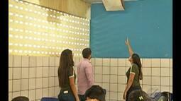 Alunos de escola pública de Ananindeua denunciam falta de manutenção em prédio