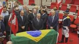 Governador Raimundo Colombo participa do velório do ministro catarinense Teori Zavascki