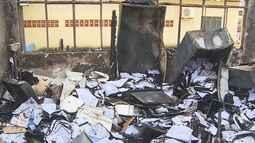 Incêndio destrói parte da estrutura da Policlínica, em Porto Velho
