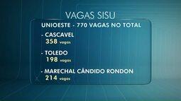 Mais de 1200 vagas em cursos de graduação na região de Cascavel pelo Sisu