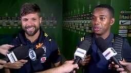 """Diego e Robinho falam do reencontro na Seleção: """"Momento de grande prazer"""""""