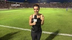 Reveja: Cecília Ribeiro acompanha jogo solidário do cantor Gusttavo Lima
