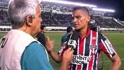 Cícero ressalta paciência do São Paulo para virar contra o Santos na Vila Belmiro