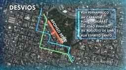 Trânsito terá alterações no fim de semana em BH por causa do carnaval