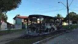 Ônibus é incendiado em Aracruz, Norte do ES