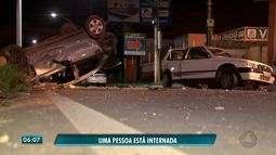 Carros destruídos em acidente em VG; Mulher esfaqueia outra durante briga em Cuiabá