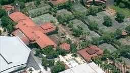 Academia de Tênis em Brasília está abandonada há sete anos