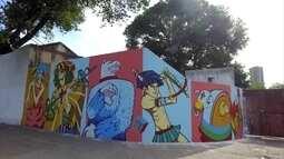 Grafiteiros retratam cultura do carnaval na decoração oficial da festa do Recife