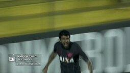 Redação AM: Marcelo Ortiz, da rádio Banda B, narra o gol da classificação do Atlético-PR