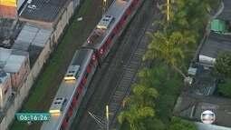 Trem descarrila na estação Itaim Paulista e interrompe circulação na Linha 12-Safira
