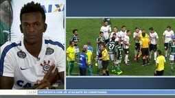 Jô critica jogadores do Palmeiras por tentarem ludibriar árbitro no clássico