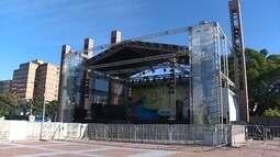 Estrutura para o carnaval de Belo Horizonte já está montada