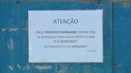 Escolas seguem fechadas em Pouso Alegre (MG) por causa de greve