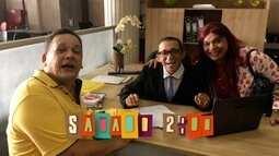 """Chamada: Vai ter comédia até no banco no """"Se Liga No Humor"""" deste sábado (25)"""
