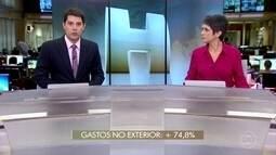 Gastos de brasileiros no exterior aumentam quase 75% em dois meses