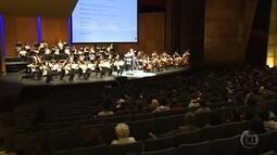 Estudantes têm aula diferente e aprendem sobre concerto e instrumentos