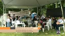 Servidores estaduais da área da saúde fazem paralisação em Joinville