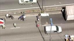 Motociclista morre em acidente na Marginal Tietê