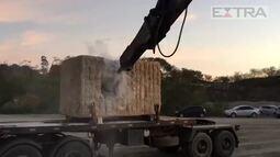 Polícia Federal encontra 123kg de cocaína escondidos em pedra de granito no ES