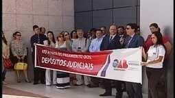 No Triângulo Mineiro, OAB faz ato a favor do pagamento dos depósitos judiciais