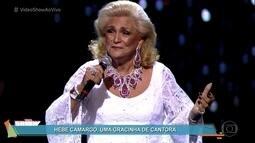 Veja Hebe Camargo cantando em 1983