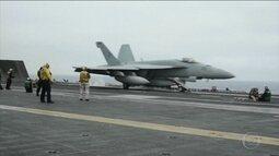 Coreia do Norte ameaça afundar porta-aviões dos EUA e detém professor americano