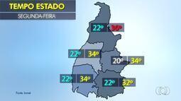 Confira a previsão do tempo para esta segunda-feira (24) em todo o Tocantins