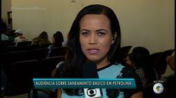 Audiência Pública discute problemas de saneamento na Câmara de Vereadores de Petrolina