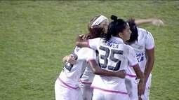 Os gols de Santos 4 x 1 São José pelo Campeonato Brasileiro de futebol feminino