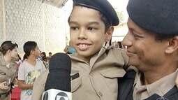 Militares de Montes Claros realizam festa especial para criança com problemas de saúde
