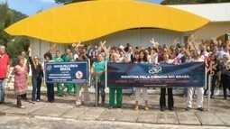 Pesquisadores do LNCC em Petrópolis, RJ, protestam contra corte no orçamento