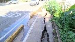 Estrutura da faixa multiuso de Cachoeiro, no Sul do ES, está danificada