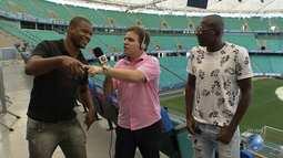 Danilo Ribeiro bate um papo com ex-jogadores do Vitória e Bahia na Arena Fonte Nova