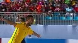 Gol do Brasil! Daniel marca mais um gol, e amplia o placar, 6 a 0