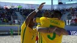 Os gols de Brasil 6 x 0 Taiti pela final da Copa do Mundo de futebol de areia