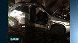 Três pessoas ficam feridas em acidente, em Goiânia