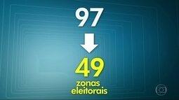 Número de zonas eleitorais cairá nas capitais brasileiras e Rio terá a maior redução