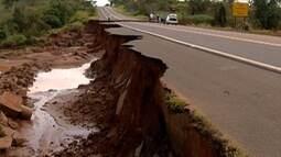 DER anuncia que obras em rodovia afetada por chuva devem durar três meses