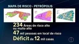 Mapa de risco de Petrópolis, RJ, é elaborado; cidade sofre défict habitacional